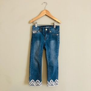 Cat & Jack skinny jeans with lace trim size 3T